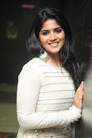 Megha Akash in beautiful White Anarkali Dress at Pre release function of Movie LIE ~ Celebrities Galleries 066.JPG