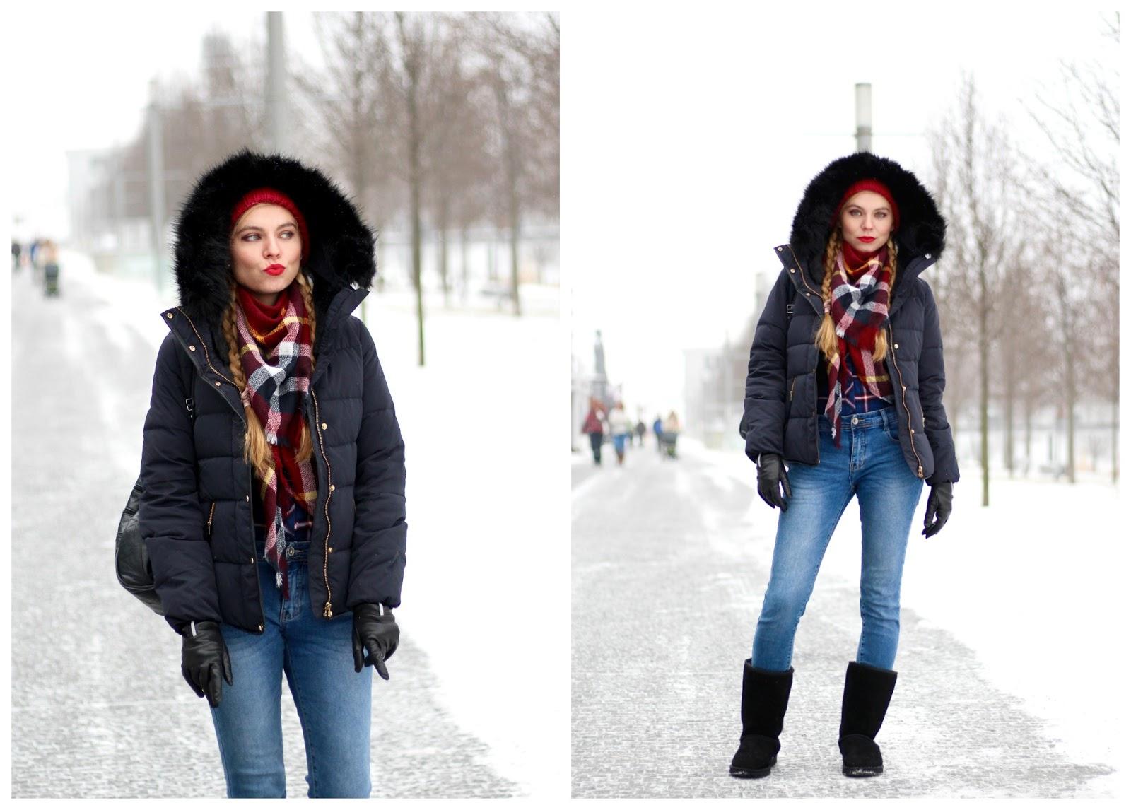 zimná pohodlná móda, comfy winter outfit