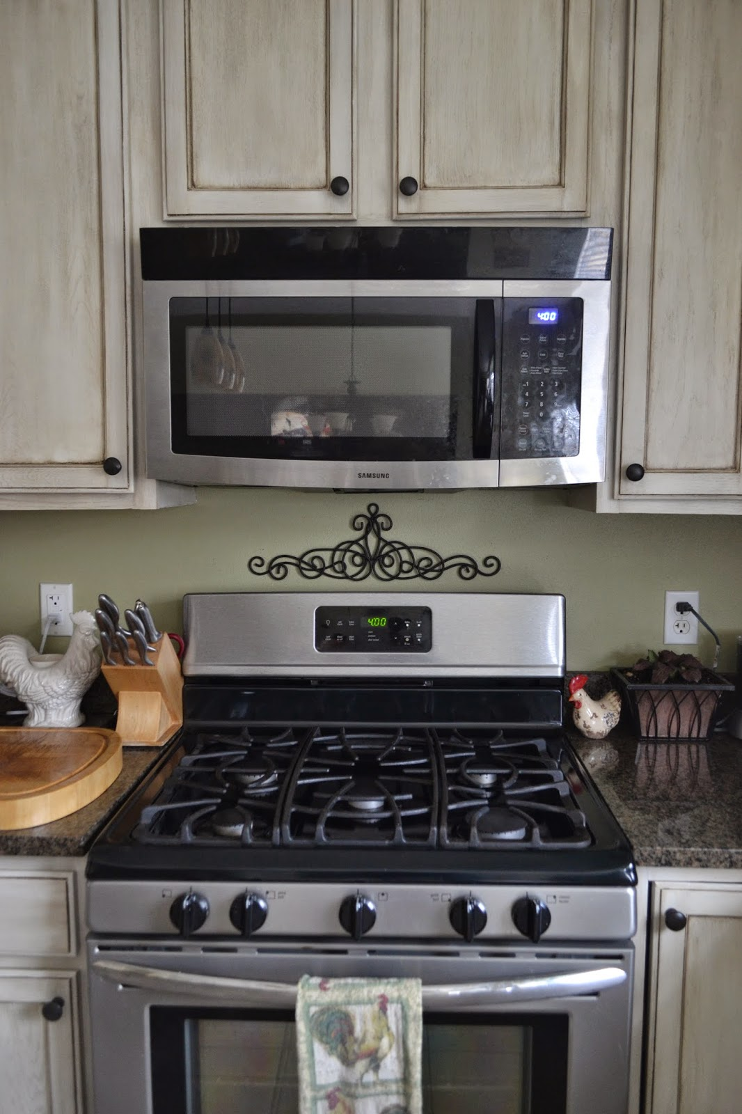 Thrifty Artsy Girl: DIY Tuscan Above the Range Microwave ...