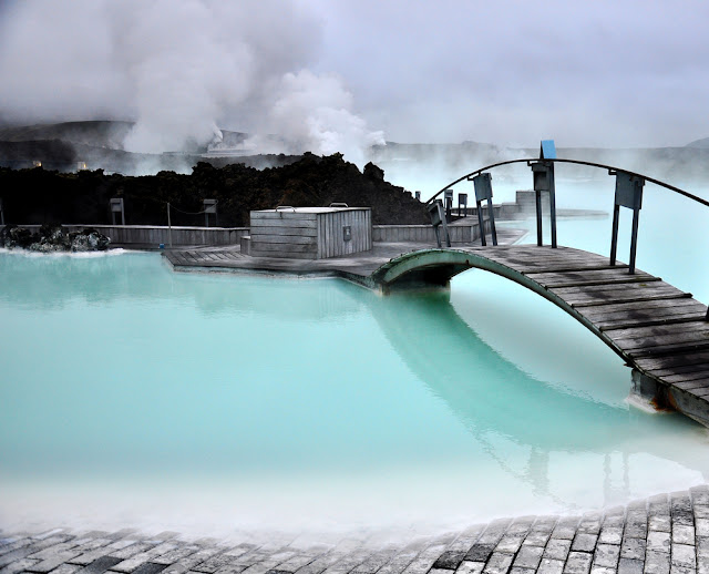 The Blue Lagoon in Iceland is a great place to relax for a day