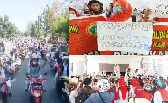 Aksi demo perawat di Polman