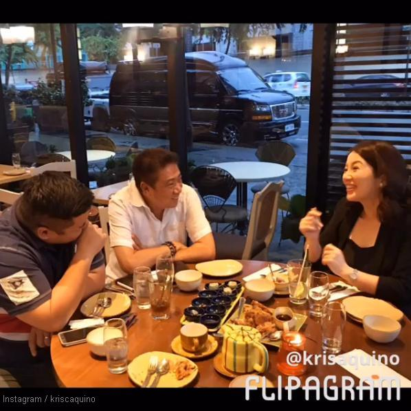 Kris Aquino in a meeting with Dired Mike Tuviera and Mr T