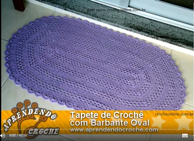 tapete fácil de crochê oval