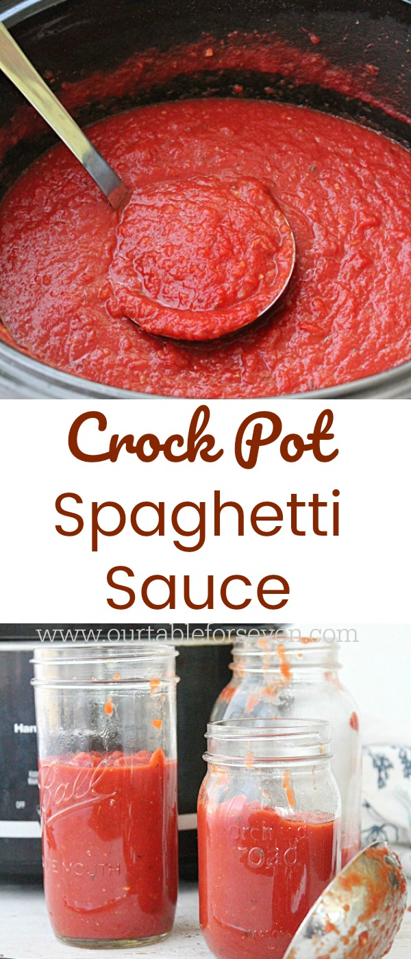 Crock Pot Spaghetti Sauce from Table for Seven