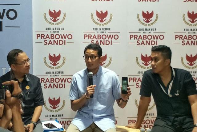 Menurut Sandiaga, Elektabilitas Prabowo Naik Pasca-kasus Hoaks Ratna Sarumpaet
