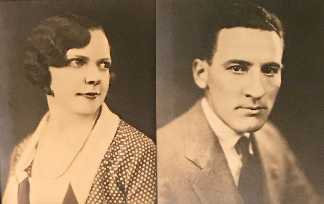 early sepia toned photos of Irma Bromley Simpson DeHaven and William DeHaven
