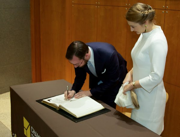 Hereditary Grand Duchess Stephanie and Hereditary Grand Duke Guillaume attended the awards ceremony for the Master Hands. Princess Stephanie wore Prada Dress and Gianvito Rossi Pumps