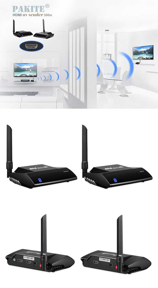 300m HDMI signal Wireless AV Transmitter and Receiver
