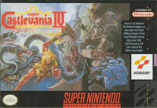 Portada del cartucho de Super Nintendo de Super Castlevania IV, Konami, 1991