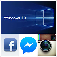 instala facebook messenger e instagram en windows 10