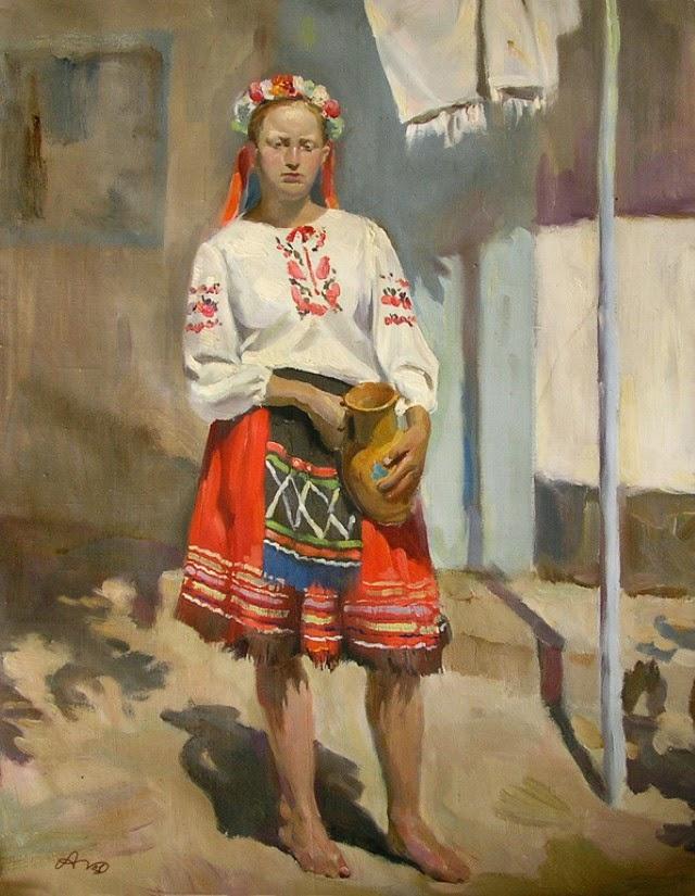 В традициях русской реалистической живописи. Alexander Deruchenko