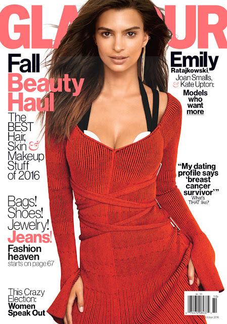 Actress, Model, @ Emily Ratajkowski for Glamour Magazine October 2016