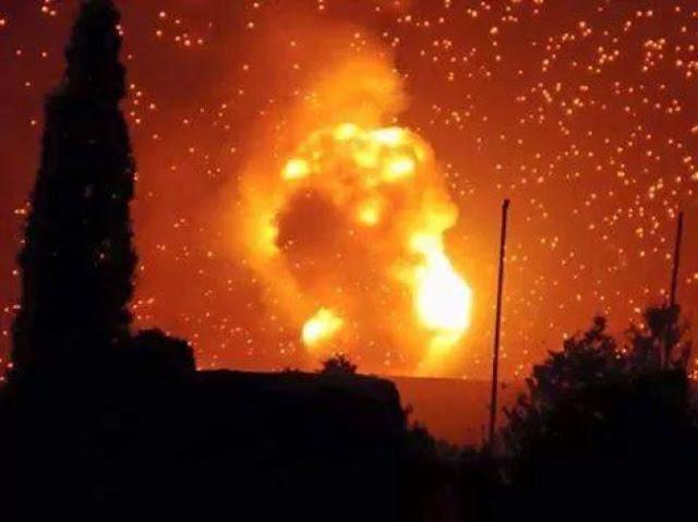 شاهد بالفيديو : اقوى قصف هستريري تتعرض له العاصمة صنعاء في هذه اللحظات