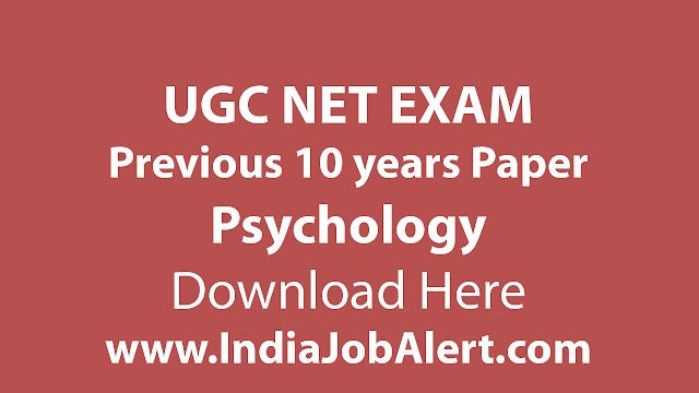 UGC NET Psychology Previous 10 years Question Paper || Download Here