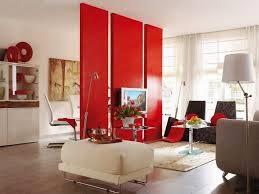 sala en blanco y rojo