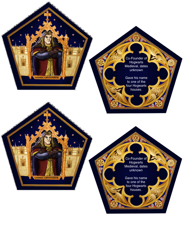 graphic about Chocolate Frog Box Printable named The Vacant Suitcase: Chocolate Frog Playing cards