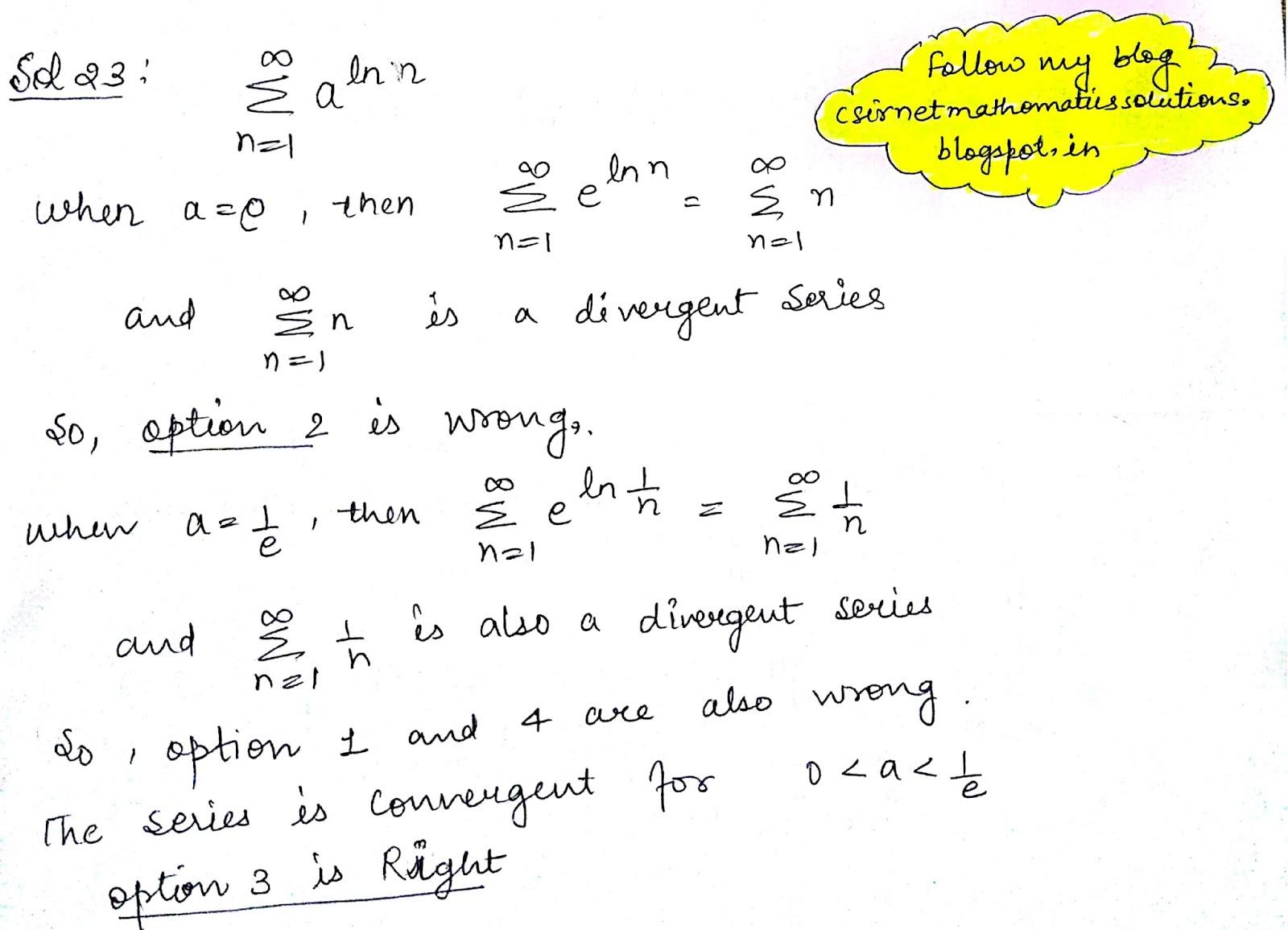 CSIR Net Mathematics Solutions : Csir Net/jrf Question paper