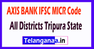 AXIS BANK IFSC MICR Code All Districts Tripura State