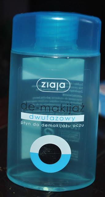 Ziaja de-makijaż dwyfazowy płyn do demakijazu oczu niebieska butelka