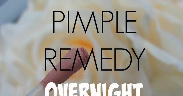 How do i get rid of a pimple overnight