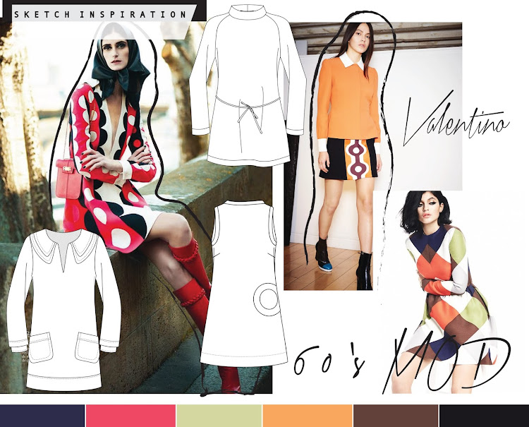 TRENDS + SKETCH INSPIRATION // MOD 60'S