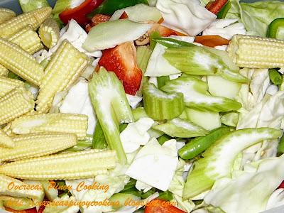 Pinoy Buko Chopsuey - Vegetable Ingredients