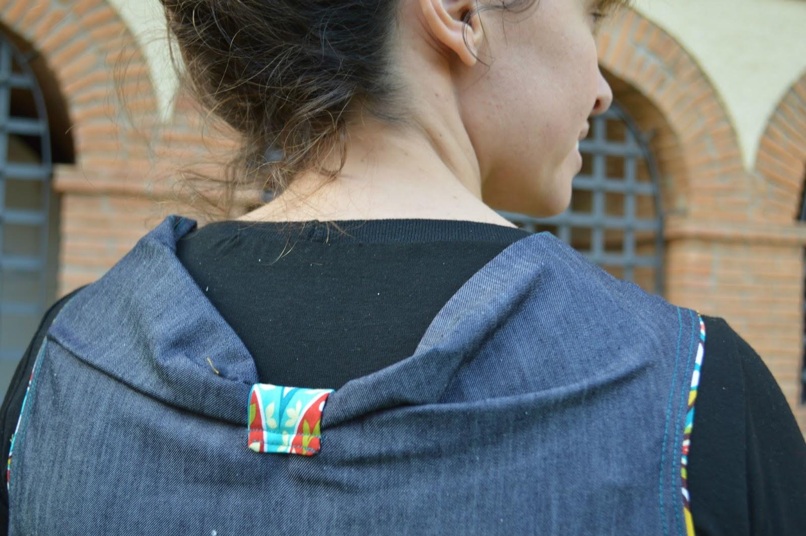 Detalle espalda vestido mujer handmade uVe