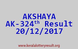 AKSHAYA Lottery AK 324 Results 20-12-2017