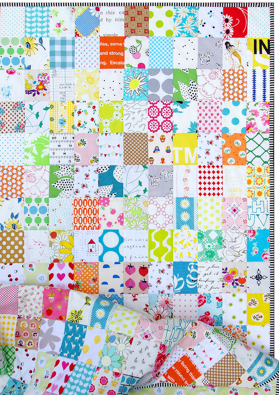 Rectangle Checkerboard Quilt | © Red Pepper Quilts 2016