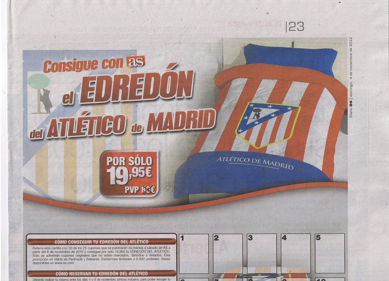 Edredon Atletico.Vendedores De Prensa Y Revistas Ciudad De Sevilla Cartilla Edredon