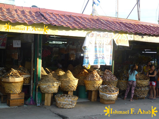 Dried seafood for sale in Taboan Market, Cebu City
