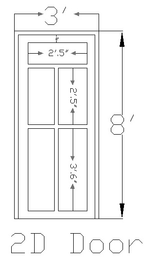 Standard size of doors and windows in meters for Window length and width