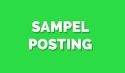 Sampel Posting template Ayang beb, Cek disini gan!