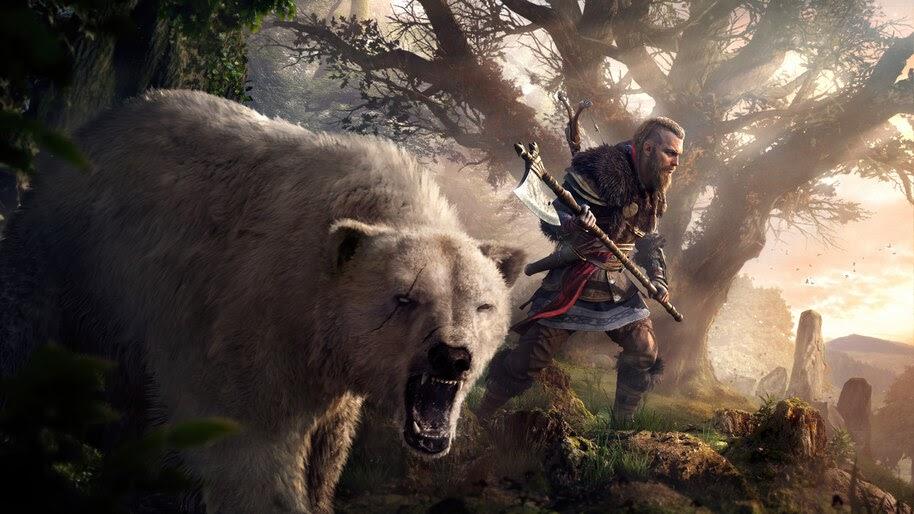 Eivor, Polar Bear, Assassin's Creed Valhalla, 8K, #7.1971