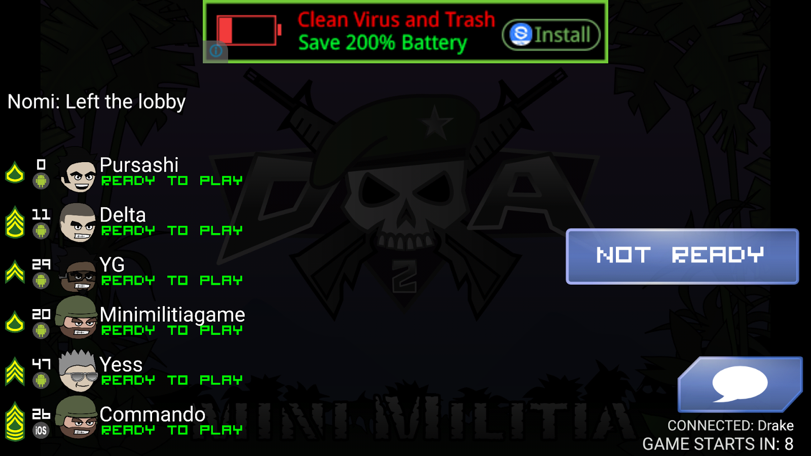 Mini military game online play