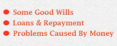 Loans, repayments and problems caused by money