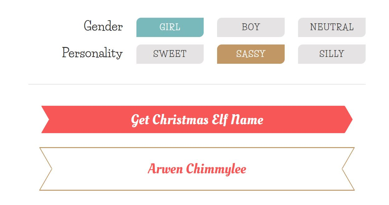 Christmas Elf Names.Christmas Tree Lane What S Your Elf Name