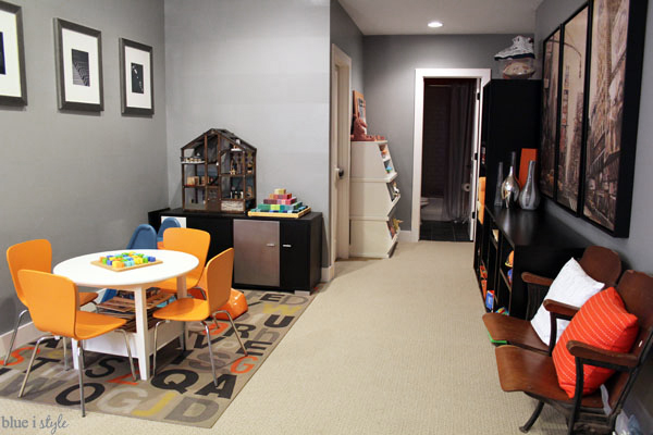 Tips for a shared family room and playroom