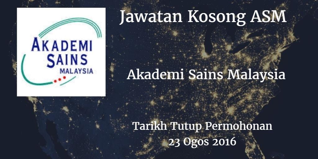 Jawatan Kosong ASM 23 Ogos 2016