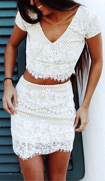 White Lace Outfits You Must See #lacedresses