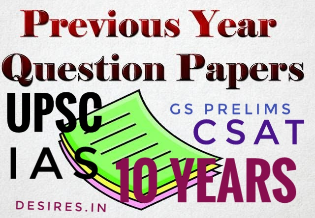 Download UPSC 10 year previous year question paper CSAT