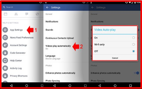 how to turn off autoplay on facebook