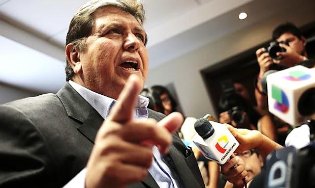 Alan García Pérez con impedimento de salida del Perú
