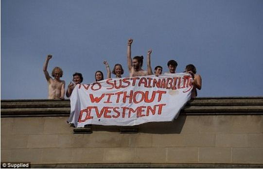 5 Photos: University students strip naked to protest school policy