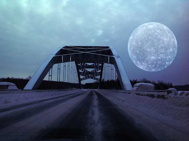 Bridge and Moon - copyright, Holly Massie