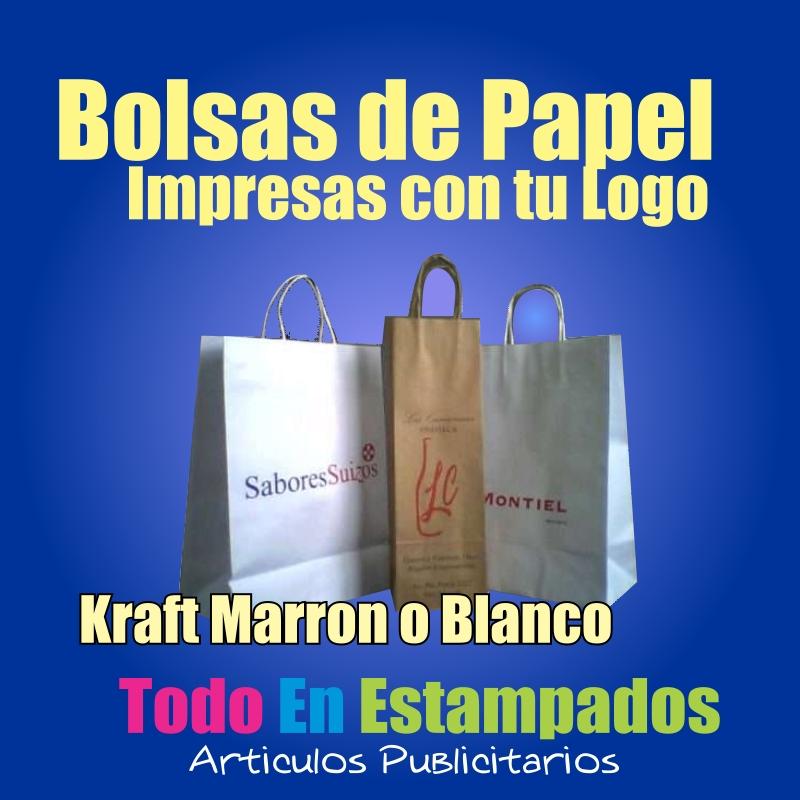 454ffb5df Todo en Estampados: Bolsas de Papel Kraft Personalizadas con tu Logo