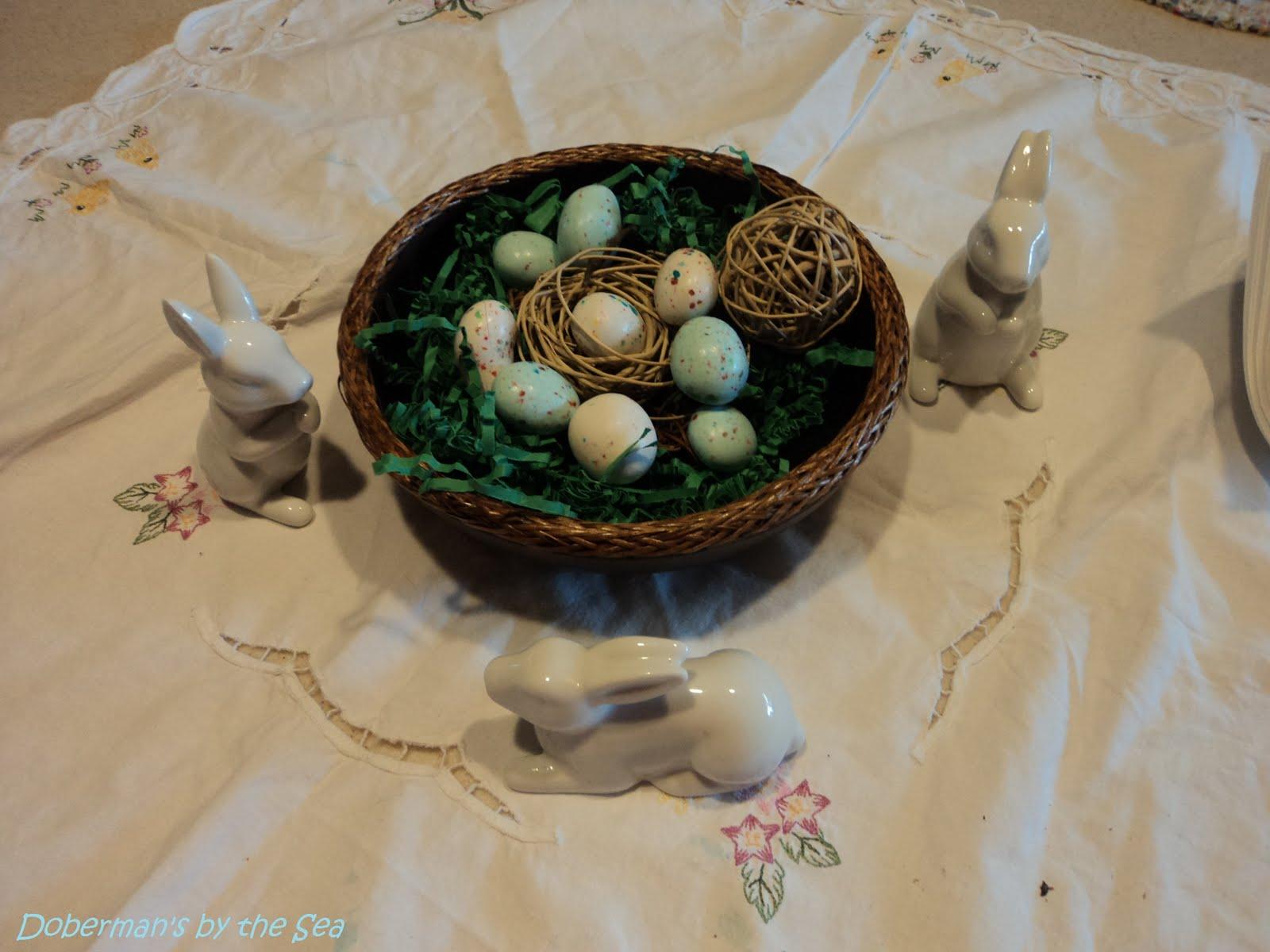 Vignettes Easter Kitchen Island Decor