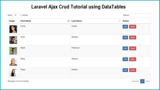 Laravel 5.8 Ajax Crud Tutorial using DataTables