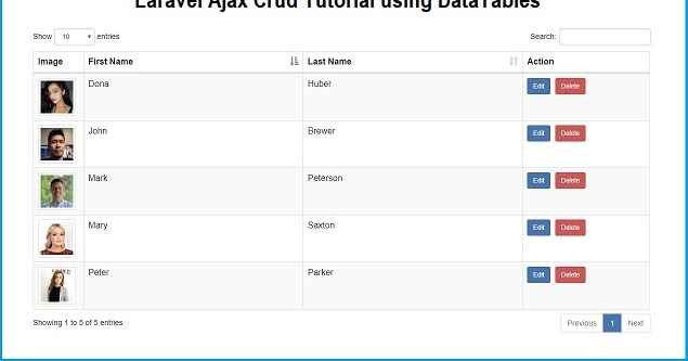 Laravel 5 8 Ajax Crud Tutorial using DataTables