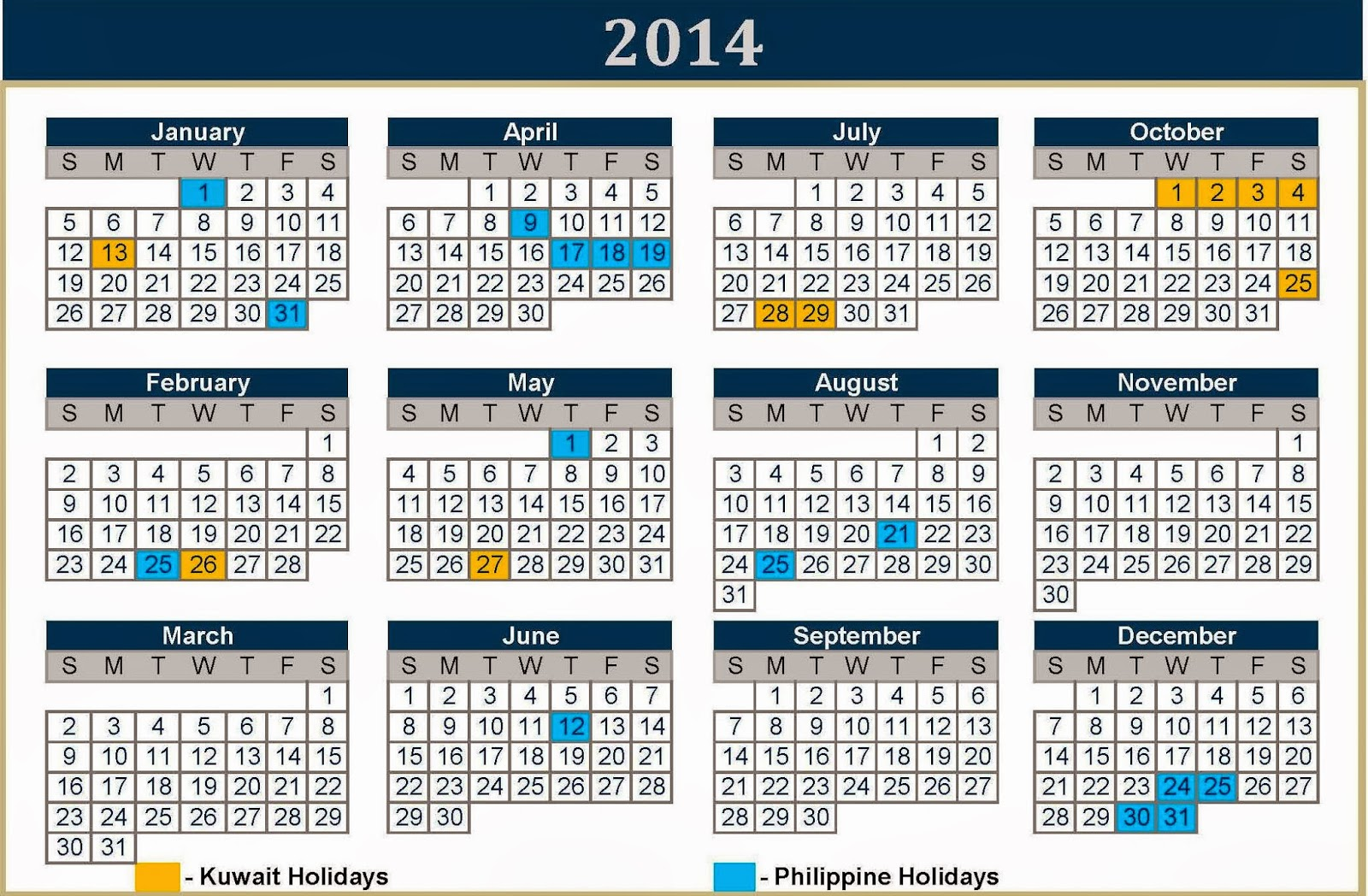 Calendar For Year 2018 United States Time And Date The Viewing Deck Ofw Vacation 2014 Kuwait And